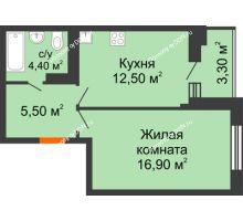 1 комнатная квартира 39,3 м² в ЖК Вересаево, дом Литер 5/1