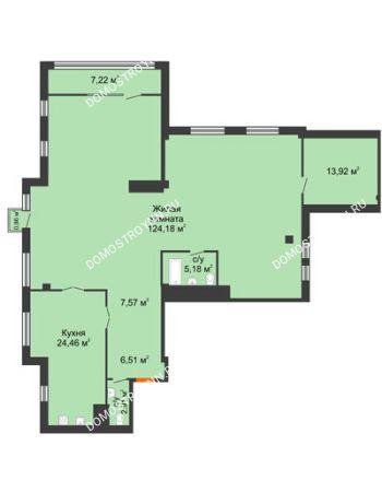 1 комнатная квартира 188,6 м² в ЖК Renaissance (Ренессанс), дом № 1