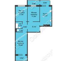 3 комнатная квартира 74,6 м² в ЖК Сормовская сторона, дом № 4