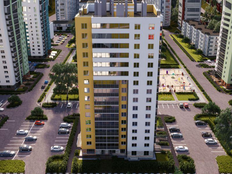 трёхкомнатная квартира в новостройке в границах улиц Лобачевского, Коммуны, Циолковского, дом №3