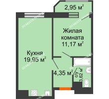 1 комнатная квартира 42,04 м² в ЖК Город времени, дом № 18