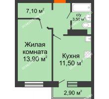 1 комнатная квартира 36 м² в ЖК Торпедо, дом № 1