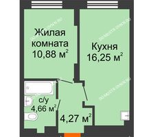 1 комнатная квартира 36,06 м² в ЖК КМ Анкудиновский парк, дом № 20 - планировка
