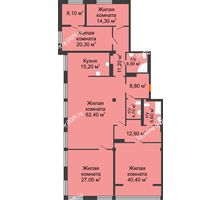 5 комнатная квартира 238,1 м², ЖК Богатяновский - планировка