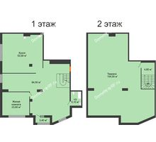 1 комнатная квартира 209,1 м², ЖК ROLE CLEF - планировка