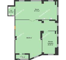 1 комнатная квартира 200,8 м², ЖК ROLE CLEF - планировка