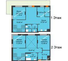 3 комнатная квартира 111,06 м² в ЖК Октябрьский, дом ГП-3 - планировка