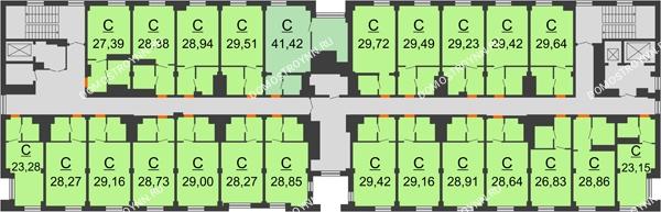 Апарт-Отель Гордеевка - планировка 8 этажа