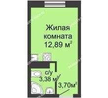 Студия 20 м² в ЖК Зеленый берег, дом Дом 13 корпус 1 - планировка
