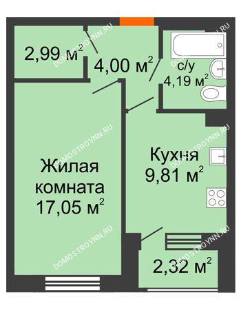 1 комнатная квартира 39,2 м² - Дом на Чаадаева